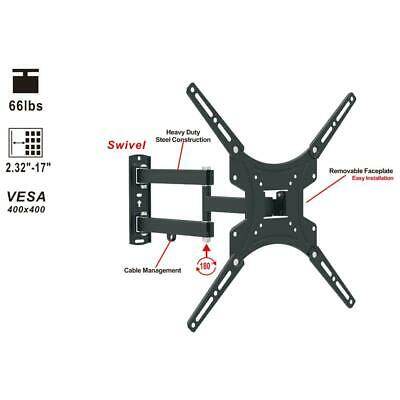 Full Motion TV Wall Mount Swivel Bracket for Vizio TCL 13 32 37 40 42 47 50 Inch