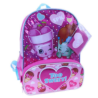 """SHOPKINS ICE CREAM DREAM 16"""" Full-Size Backpack w/ Optional Insulated Lunch Box"""