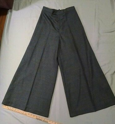 Ladies Vintage 70's Trousers Up Brand Extra Wide Leg Pants