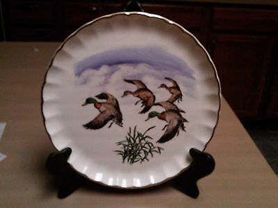 Vintage Ws George Bolero Ducks In Flight Plate Hand Painted By Philippe Nice