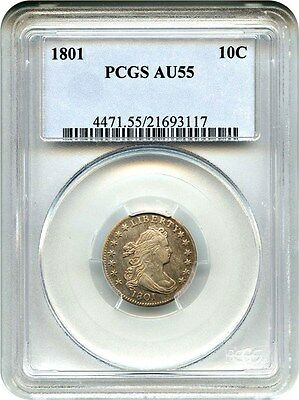 1801 10c PCGS AU55 - Early Bust Type Coin - Bust Dime - Early Bust Type Coin