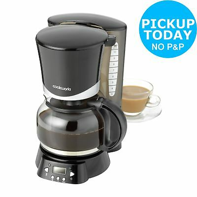 Cookworks Filter Coffee Maker with Timer - Black