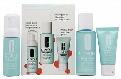 Clinique Anti-Blemish Solutions 3-Step System Gift Set 50Ml Cleansing Foam + 100