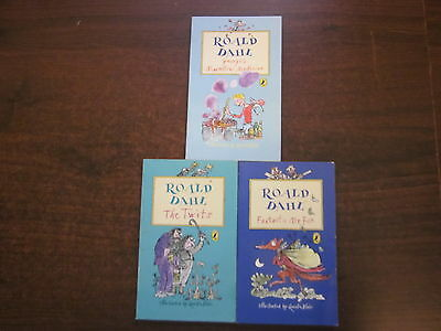 3 x Roald Dahl Books FANTASTIC MR FOX, THE TWITS, GEORGES MARVELLOUS MEDICINE