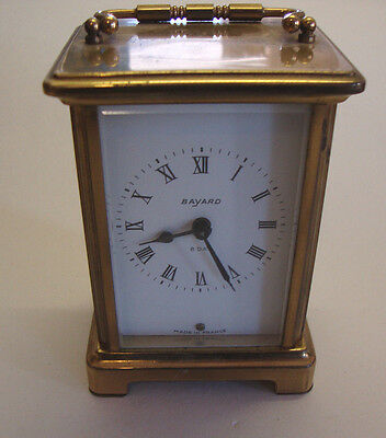 Vintage BAYARD 8 DAY brass carriage clock
