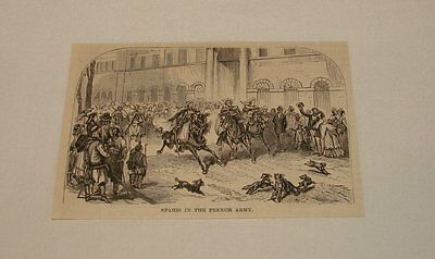 1886 magazine engraving ~ SPAHIS IN FRENCH ARMY, France