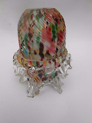 Victorian ** END OF THE DAY ** Glass Pyramid Sized Fairy Lamp