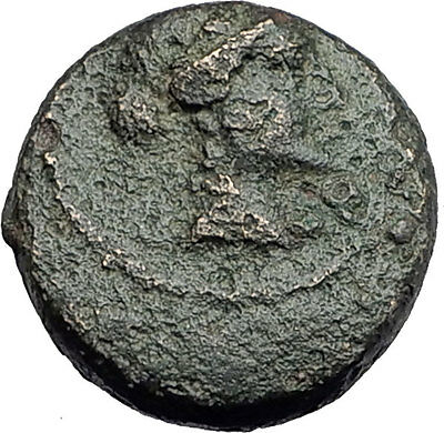 SARDES in Lydia 133BC Authentic Ancient Greek Coin APOLLO & HERCULES CLUB i62677