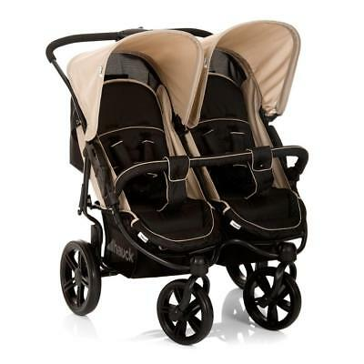 Hauck Roadster Duo SLX Double Pushchair (Almond Caviar) Side-by-Side Twin