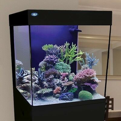 20 Gallon Cubey Tank & Stand Kit All in One Midsize Aquarium Black by JBJ