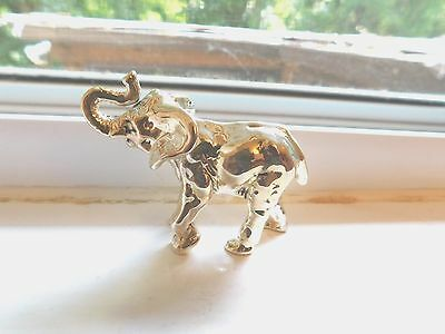 "Vintage Sterling Silver .925 Small Elephant Figurine- 2.25"" X 2"""