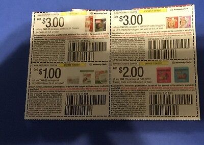 Huggies Diaper Coupons 9.00 Value Expire 7/29/2017  I Pay The Shipping