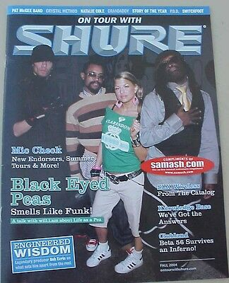 ORIGINAL 2004 ON TOUR WITH SHURE - Black Eyed Peas, Grandaddy, switchfoot,etc