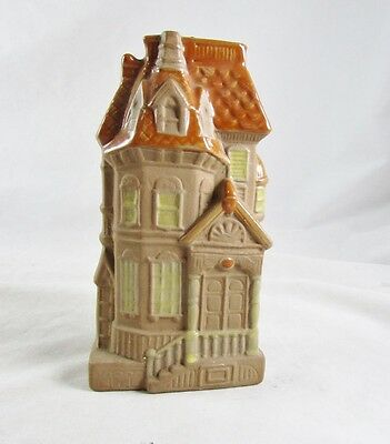 Gempo Wall Pocket Victorian House Japan Stoneware 1960s