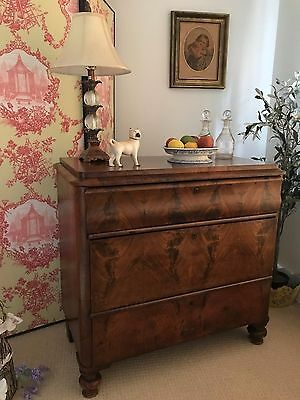 Beautiful Antique Biedermeier Continental Chest of Drawers PICKUP NOTTS