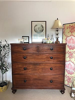 Beautiful Antique Victorian Large Chest of Drawers Mahogany PICKUP NOTTS