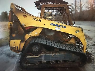 2007 Komatsu 35CK Skid Loader Skidsteer  *Fire Damage  ** Parts or Repair *