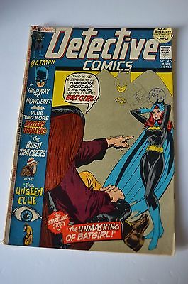DC Detective Comics # 422 Apr 1972 Batman the unmasking of batgirl 25c USA