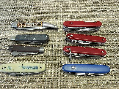 Lot of 8 Assorted Vintage Pocket Knives Colonial Klein Camillus USA