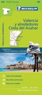 Valencia Costa del Azahar Zoom Map 149 9782067218253 (Sheet map, folded, 2017)