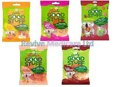 Goody Good Stuff Sweets 100g Bags Vegan & Vegetarian, Kids Party, Mixed Case