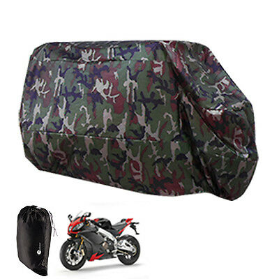Camouflage Paint XL XXL Waterproof Outdoor Motorcycle Motorbike Scooter Cover