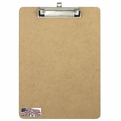 Officemate Recycled Wood Clipboard, Letter Size, Low Profile Clip, 9 x 12.5