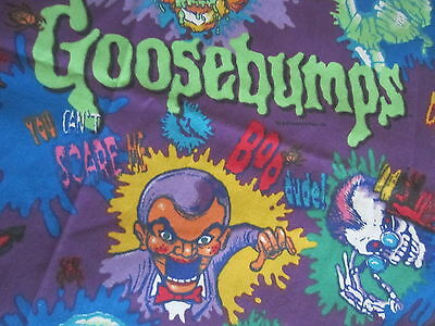 Goosebumps Twin Flat Sheet Crafting Fabric Vintage 1990's RL Stine 70x93 Inches