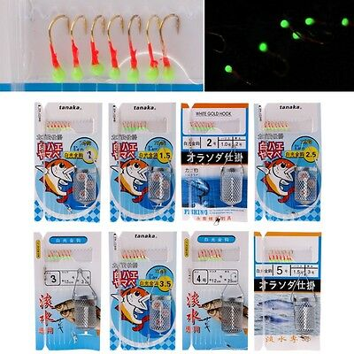 Fishing String Barbed Hook Luminous Beads Metal Bait Cage Accessories Tackle