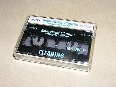 Sony V8-25CLD 8mm Camcorder Head Cleaning Tape, Video Camera Head Cleaner Tape