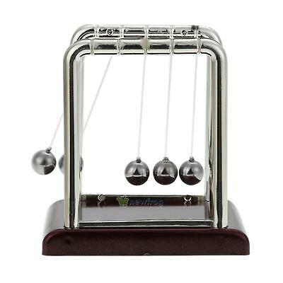 SN9F Creative Fun Desk Toy Cradle Steel Balance Swinging Magnetic Ball Silver