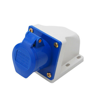 16 Amp 3 Pin Industrial Plug+Weatherproof Socket 220-250V IP44 2P+E 3Phase 16A