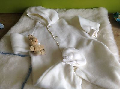 AUTHENTIC VINTAGE 1970s UNUSED BABY  PRAM SUIT/SNOW SUIT 3/6 MONTHS