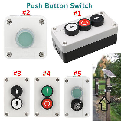 Weatherproof Push Button Switch for Automatic Gate Opener/Hoist Roller Door etc.