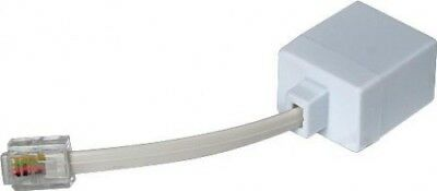 Orchid 10cm Socket Adapter Cable Extension Lead for PBX 207, 308+ & 416 | White