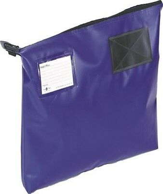 Go Secure Mail Pouch with Window Heavy Duty Blue | 470 x 336 x 76mm