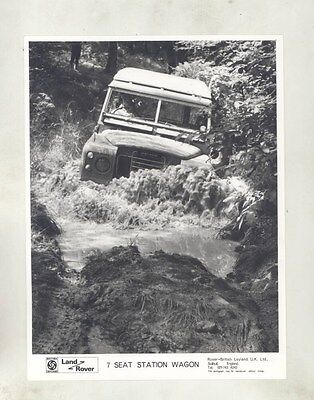 1973 ? Land Rover 7 Seat Station Wagon ORIGINAL Factory Photo wy0790