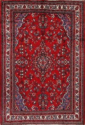 """Hand Knotted Classic Floral 7x10 Hamadan Persian Oriental Area Rug 10' 4"""" x 7' 2"""