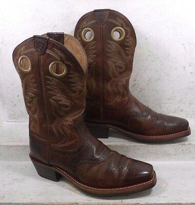 Ariat Mens Heritage Brown Pull On Cowboy Western Boots 10002227 Shoes sz 10.5 EE