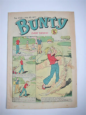 Vintage Bunty Comic No.1020 July 30th, 1977 – 40 years old! Top Birthday Gift!
