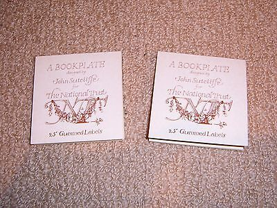 """Two 3"""" books of """"A Bookplate designed by John Sutcliffe for the National Trust"""""""