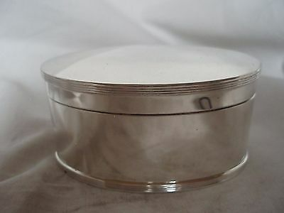Tea Caddy Sterling Silver Chester 1914