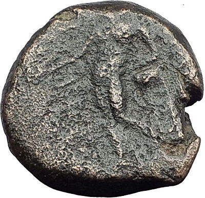 ANTIOCHOS III Megas 222BC RARE R1 Ancient Greek SELEUKID King Coin APOLLO i62711
