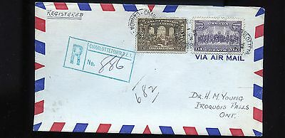 1939 Canada Registered Cover RPO to Iroquois Falls  BL758