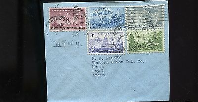 1951 USA Cover to Fatal Azores Air Mail BL764
