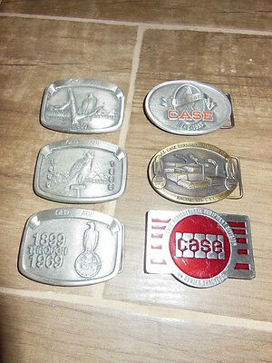 CASE OLD ABE tractor belt buckle lot VTG