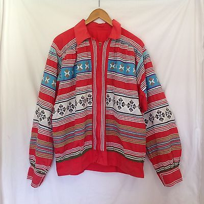Seminole Native American Men's Miccosukee Patchwork Rick Rack Jacket Florida 52