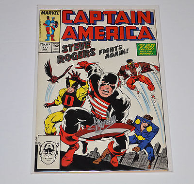 CAPTAIN AMERICA #337  Signed by STAN LEE  AUTOGRAPHED COMIC