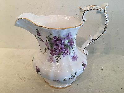 Hammersley England Bone China H 11-11 Victorian Violet England Small Pitcher 6.5