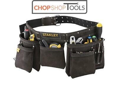 Stanley Leather Nail and Tool Belt Pouch Apron with Hammer Loop STA180113